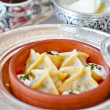 Turkish Ravioli (Manti) from classical Ottoman-Turkish Cuisine - Stock Photo