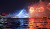 Fireworks over the Bosporus — Stock Photo