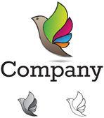 Elemento de design do pássaro — Vetor de Stock