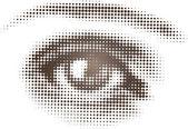 Watching Eye — Stock Vector