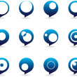 Stylized Speech Bubbles Icons - Stock Vector