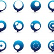 Stylized Speech Bubbles Icons — Stock vektor