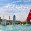 Dolmabahce area from the Bosporus, Istanbul, Turkey - Stock Photo