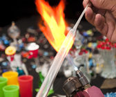 Shaping glass — Stock Photo