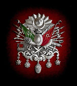 The coat of arms of the Ottoman Empire — Stock Photo