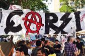 Istanbul gezi Parkı protesto gösterileri — Stok fotoğraf