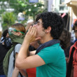 Istanbul Gezi Park Protest, the very first day — Stock Photo