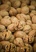 Delicious walnut pile — Stock Photo