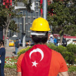 Standing Man protest in Istanbul — Stock Photo #27061963