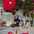 Standing Man protest in Istanbul — Stock Photo
