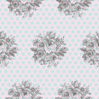 Classic Floral Seamless Pattern — Stock Vector