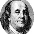 Benjamin Franklin portrait — Stock Vector