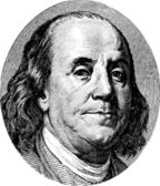 Retrato de benjamin franklin — Vetorial Stock