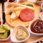 riklig frukost — Stockfoto