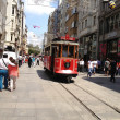 Nostalgic tram in Istiklal Road — Stock Photo #28220673
