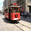 Nostalgic tram in Istiklal Road — Stock Photo #28220685
