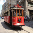 Nostalgic tram in Istiklal Road — Stock Photo #28220689