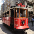 Nostalgic tram in Istiklal Road — Stock Photo #28220703