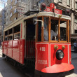 Nostalgic tram in Istiklal Road — Stock Photo
