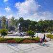 Gezi park and Taksim Square after the park is re-opened — Stock Photo