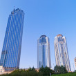 Business Towers in Levent area in Istanbul — Stock Photo