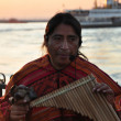 American-Indian street musicians making local music in Kadikoy, Istanbul in the evening — Stock Photo #28602601