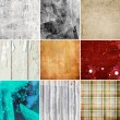 Grunge texture collection — Stock Photo