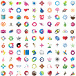 Huge collection of trendy icons — Stock Vector #32774981