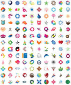 Huge collection of trendy icons — ストックベクタ