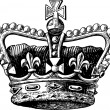 Crown Engraving — Stok Vektör