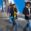 Bollywood shooting in Istanbul — Stock Photo