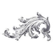 Acanthus Scroll — Stock Vector