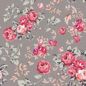 Nahtlose rosenmuster — Stockvektor
