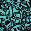 Hebrew Seamless Pattern — Stock Vector