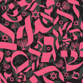 Hebrew Seamless Pattern — Wektor stockowy