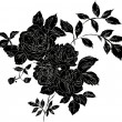 Black rose — Stock Vector #39351199