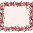 Shabby Rose Frame — Stock Vector