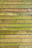Green painted wooden panels background — Stock Photo