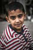 Syrian refugee kid — Stock Photo
