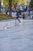 年轻选手练习在囊,土耳其第四大城市可以看到广场 — 图库照片