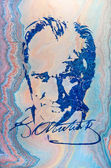 Painting of Ataturk by Hikmet Barutcugil — Stock Photo
