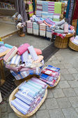 Turkish bath cloths sold at a store — Stock fotografie