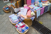 Turkish bath cloths sold at a store — Stockfoto