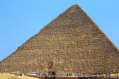 Pyramids of Cheops and Chefre in the desert of Egypt — Stock Photo