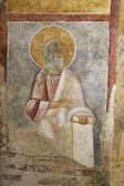 Old fresco on the wall of St.Nicholas church, Demre — Stockfoto