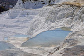 The Pamukkale natural lakes in Hierapolis Turkey — Stock Photo