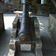Ancient cannon in the Chinese museum outdoor — Stock Photo