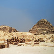 Pyramids In Desert Of Egypt Giza — Stock Photo #37700661