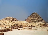 Pyramids In The Desert Of Egypt Giza — Stock Photo