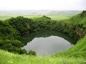Sarmakovo lake between a caucasus mountains summertime — Stock Photo